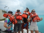Team Tern tries desperately to make the mandatory Kahana tender boat life vests look cool....to minimal success.