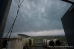 View of the storm from the warehouse.